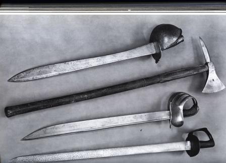 typy zbraní pro boj zblízka, sloužící posádkám lod