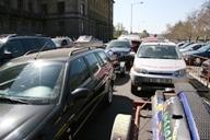auta demonstrantů blokovala provoz minimálně
