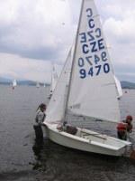 Lipno MČR Cadet lodě na vodu